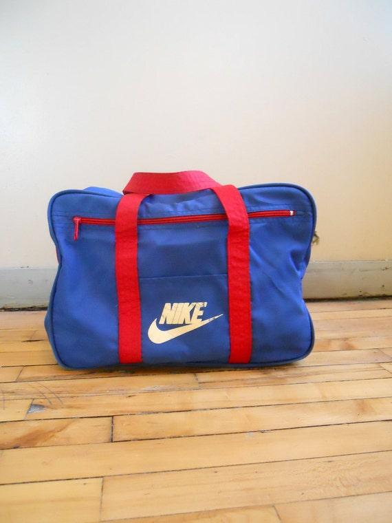 1980s / 80s Nike Gym or Duffel Bag - Orange Label