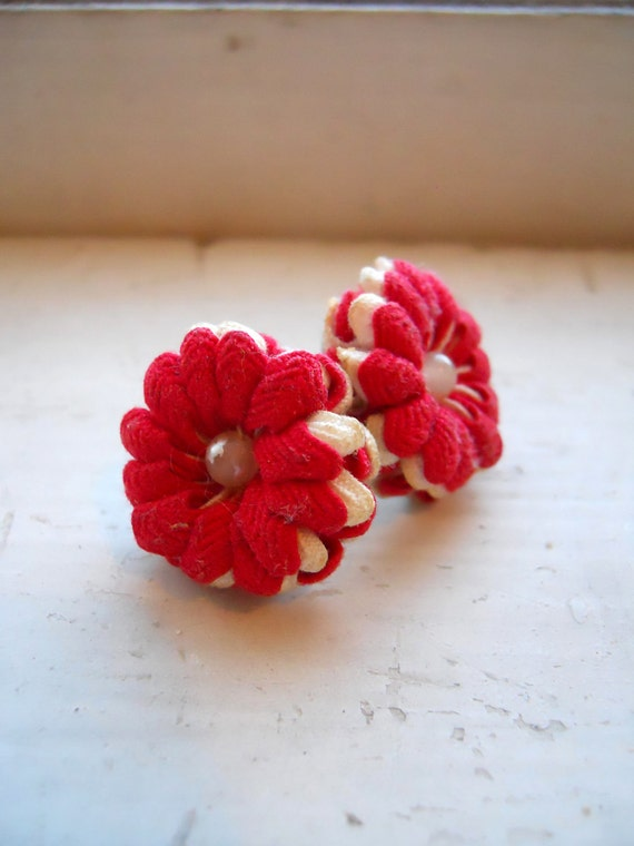 1940s/40s or 1950s/50s Rosette Earrings - Ric Rac