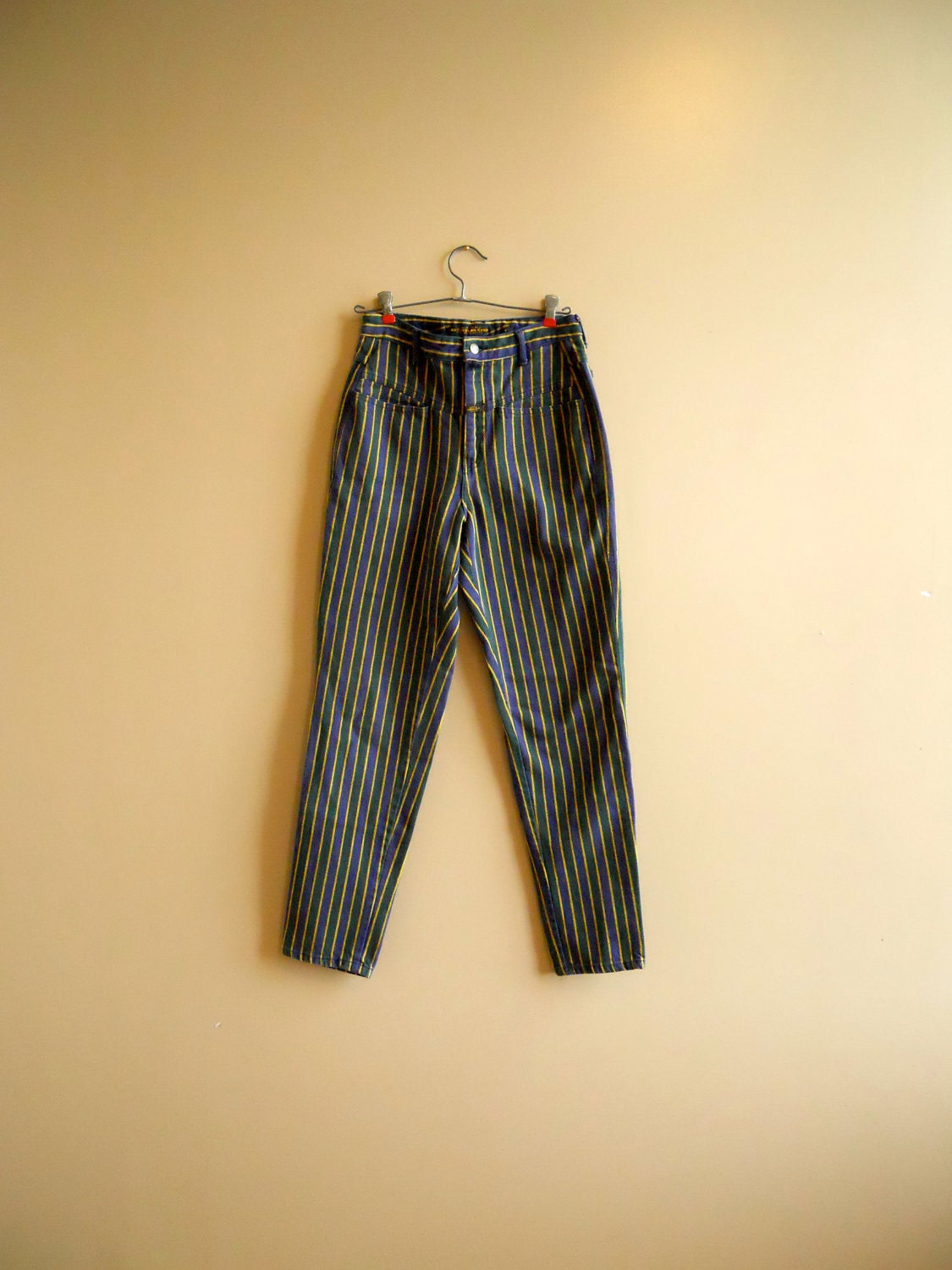 1990s 90s Striped Girbaud Jeans By Rabbitrabbitvintage