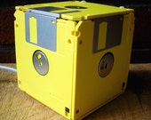 Floppy Disk Box Night Light - Yellow