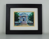 Clarion Library Print - home decor, Pennsylvania, architecture, building, Clarion University, 8x10 with mat