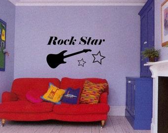 Rock Star - removable Wall Decal - (Rockstar)
