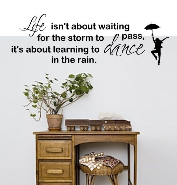 Dancing in the rain - Wall Decal - removable vinyl