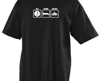 Eat Sleep Jet Ski T-shirt Funny Jet Ski Shirt Humorous Tee