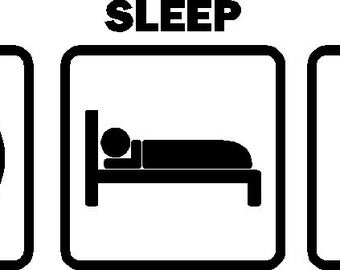 Eat Sleep Dive Car Decal Stickers Vinyl Graphic (Color White)