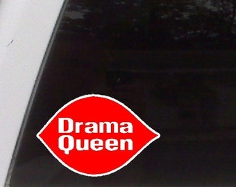 Drama Queen Funny Car Decal Window Laptop Fun Sticker