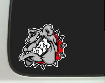 Bulldog Car Decal Window Laptop Bulldog Stickers