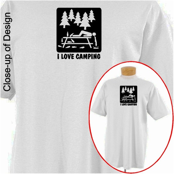 ich liebe camping lustige t shirt witzig shirt lustige camping. Black Bedroom Furniture Sets. Home Design Ideas