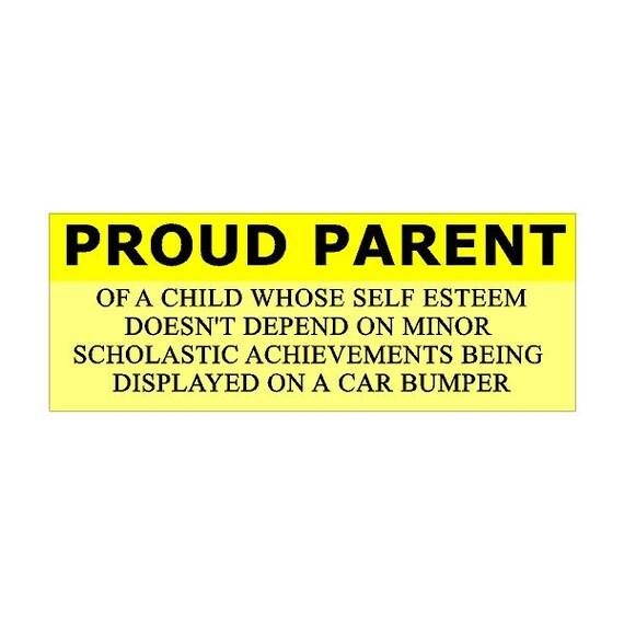 Proud Parent...Funny Car Decal Fun Car Sticker