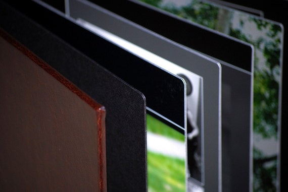 Bonded Leather Cover Modern Flush Mount Wedding Album