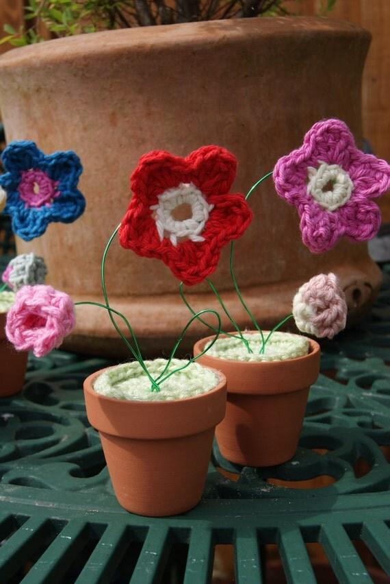 Crochet Pattern Notation : Mini- pot plants PDF crochet pattern UK notation from ...