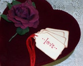 Valentine Gift Tag - Love - Wedding Wish Tree Tags - Set of Six
