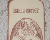 Easter Bunny Tags - Adorable Lop-Ear Bunny Face-Happy Easter - Set of Six