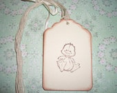 Baby Gift Tags  - Baby Duck Tags - Sweet - Baby Shower- All Occasion - Gift Tags - Set of Six