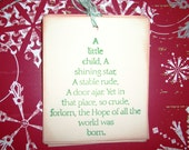 Christmas Gift Tags -  Christmas Tree Beautiful Christmas Verse  A Little Child - Real Meaning of Christmas - Set of Six