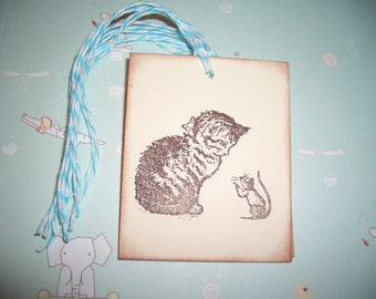 Beatrix Potter Tags - Miss Moppet Gift Tags - All Occasion - Set of Six