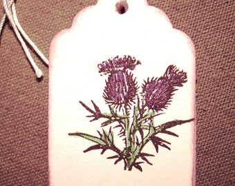 Scottish Thistle Tags - Gift Tags - Wish Tree Tags - Set of Six
