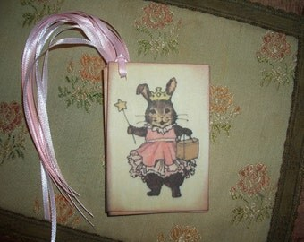 Princess Bunny Tags -  Easter - Birthdays - All Occasion - Baby Shower - Wish Tree Tags - Wish Cards - Set of Six