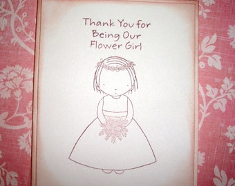 Wedding Card -  Thank You for being our Flower Girl - Sweet