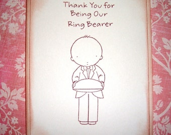 Wedding Card -  Thank You for being our Ring Bearer- Sweet -