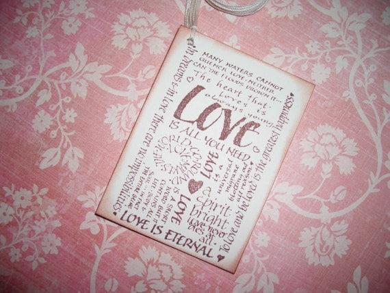 Wedding Tags Love Phrases Wish Cards Wish Tree Tags