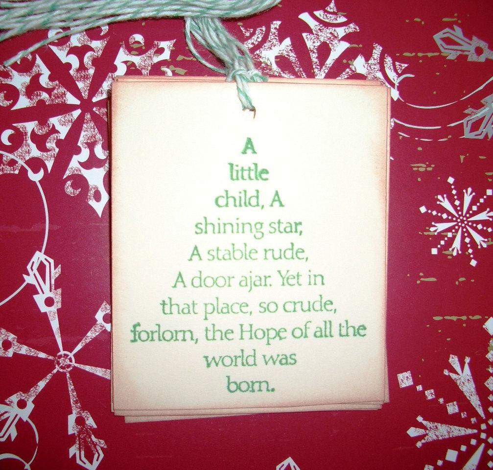 Christmas Gift Tags Christmas Tree Beautiful by tinkerbellshop