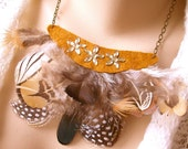 Fancy Feathers - A Native American Inspired Statement Necklace