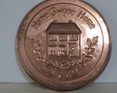 vintage Home Sweet Home Copper Wall Hanging