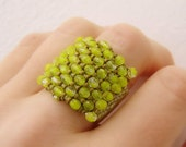 Ring  Beaded Lime