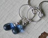 Kyanite Gemstone and Sterling Silver Dangle Earrings