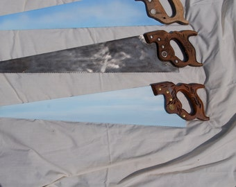 Vintage Old Hand Saw ready for custom request your choice of saws you see includes painting it