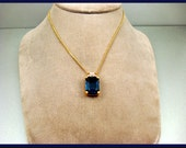 Beautiful Christian Dior Cobalt Rhinestone Necklace
