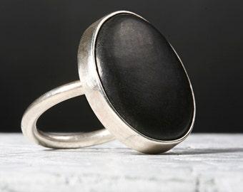 Black Lake Michigan Stone Ring