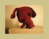 maroon gothic puppy plush