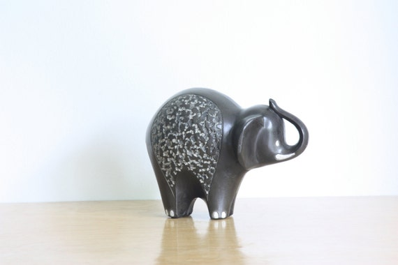 RESERVED - Vintage Modern Ceramic Elephant, Freeman and McFarlin