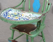 Chippy Green High Chair with Mosaic Tray