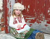 Snowy Holiday...Knot dress with apron