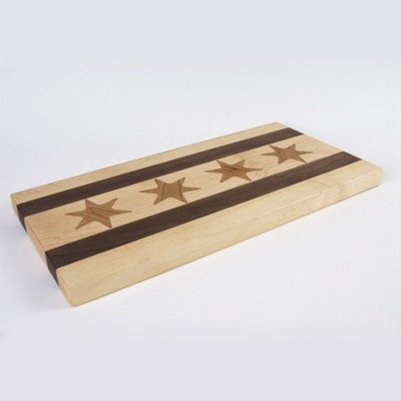 Medium Chicago Flag Cutting Board