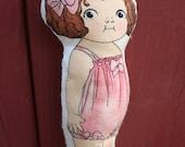 RUBY Soft Pocket Doll - Organic Cotton Filled Vintage Inspired ChildrensToy