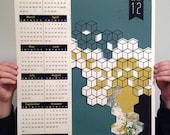 2012 Screen printed calendar - limited edition