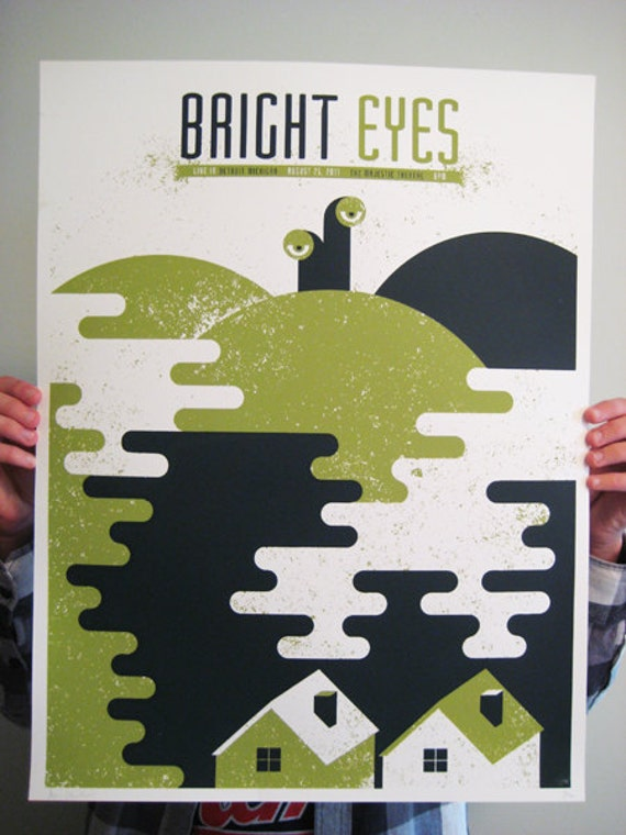 Bright Eyes limited edition gig-poster