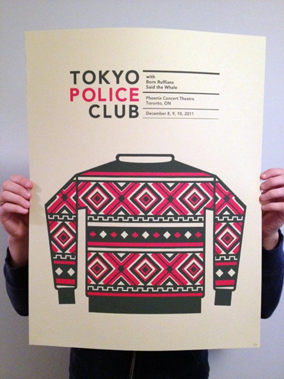 Tokyo Police Club Holiday limited edition show poster