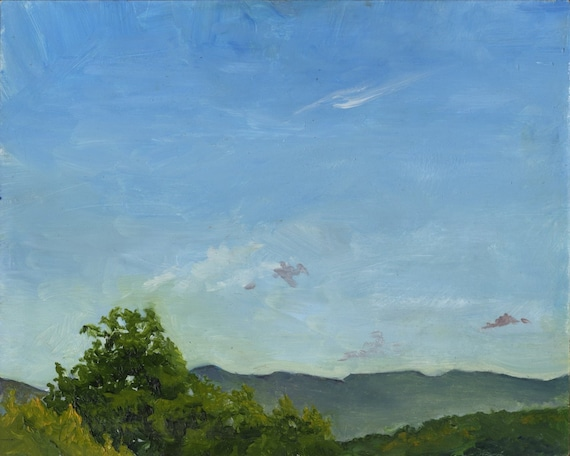 Sky New England- Original 8x10 Oil on Panel, Framed