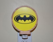 Batman Bat Signal Night Light with Wood Oak Frame