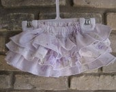 Boutique Ruffled Diaper Cover in sizes 3 mo. to 3T with FREE M2M bow
