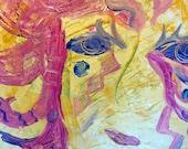 ORIGINAL Masquerade Abstract Painting Highly Textured