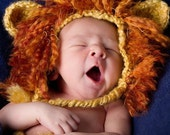 Crochet Lion Hat with Braids