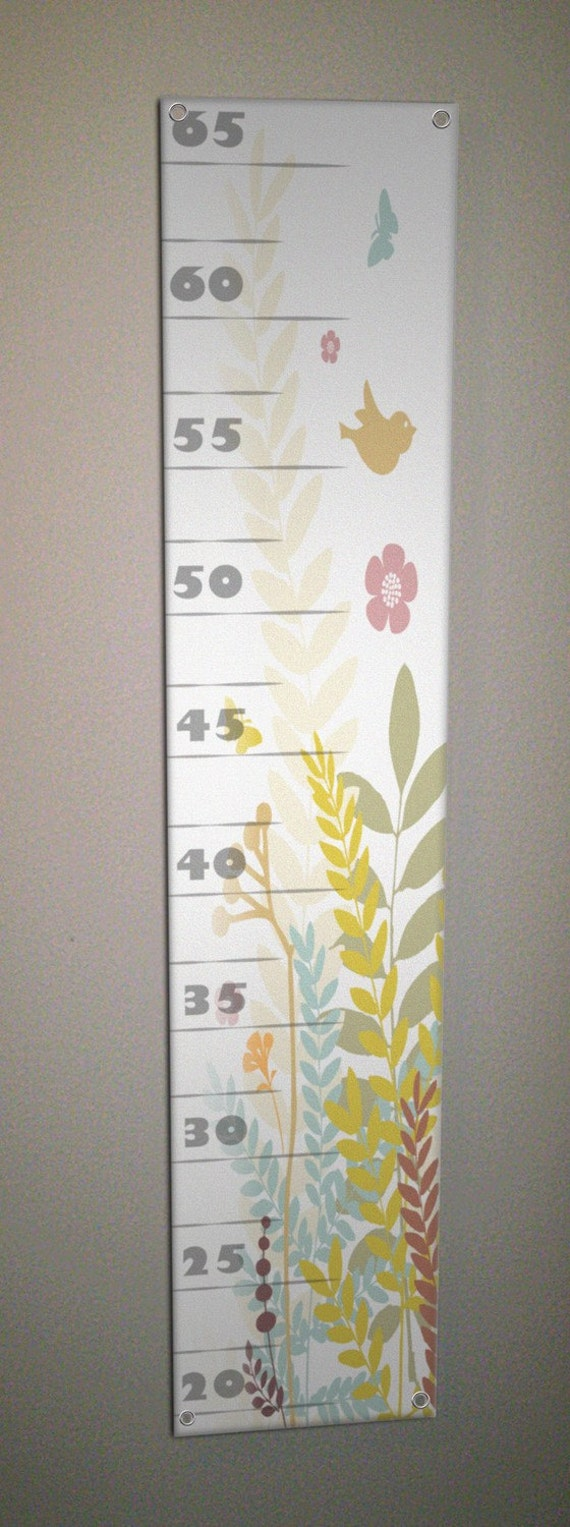 Olivia - Grommeted Canvas Growth Chart