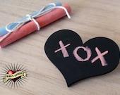 Chalkboard Heart  /  Make a Mark Brooch