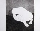 Introspect I : an etching and aquatint of a kneeling male figure, 2006